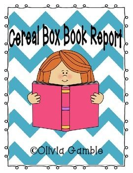 Cereal Box Book Report Project Activities & Project for